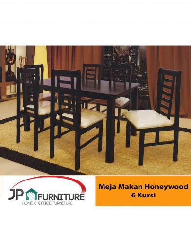 Meja Makan HONEYWOOD 6 Kursi