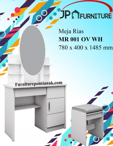 Meja Rias MR 001 OV WH